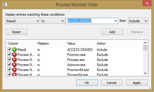 procmon filter