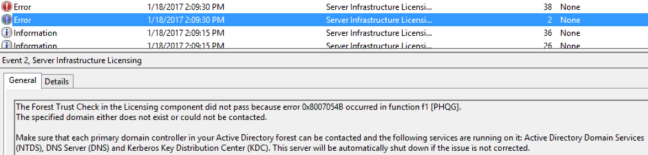 forest-trust-check-failed