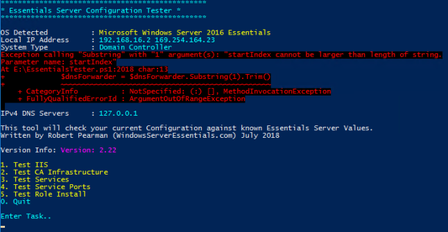 Windows ESS Config Troubleshooter